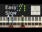 Happy Birthday To You - Piano Tutorial Easy Slow - How To Play Happy Birthday To You