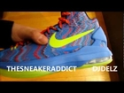 Nike KD V Christmas Xmas 5 Sneaker Review With @DjDelz #HotOrNot ?