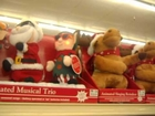 SINGING DANCING ANIMATED CHRISTMAS SANTA AND ELF TRIO BIG LOTS EXCLUSIVE