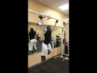 Hanging Crunch with Medicine Ball