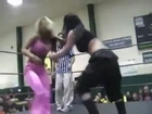 Miss april,brooke carter vsRoxxie Cotton,Annie Social tag team championship