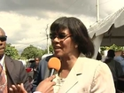 TVJ Reporter Vashan Brown questions PM Portia Simpson Miller